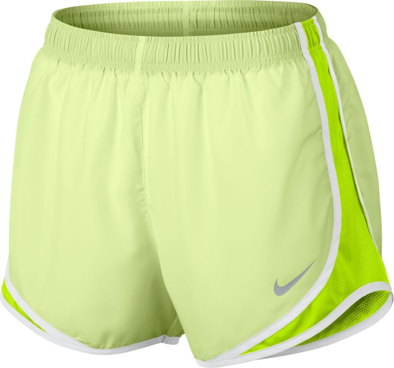 Womens Nike Dry Tempo Running Short (Barely Volt/Volt/White, X-Small)