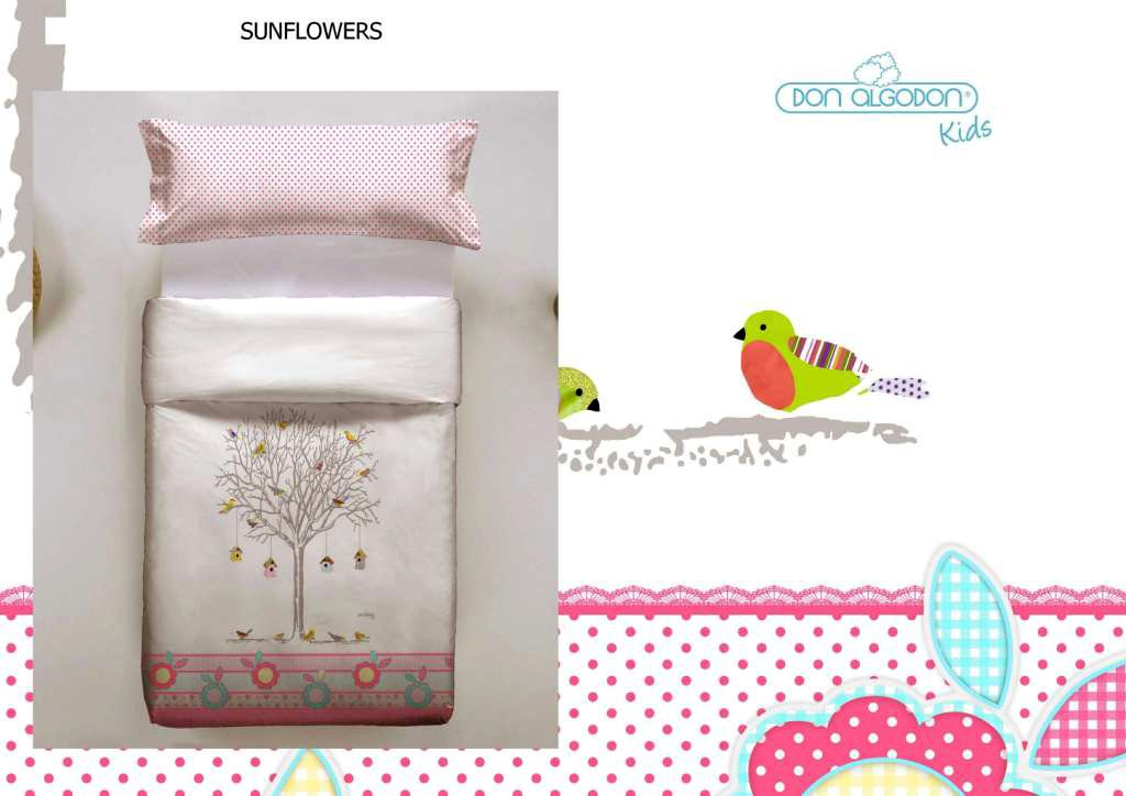 Don Algodon Kids.- Conjunto de funda nordica y almohada Sunflowers ...