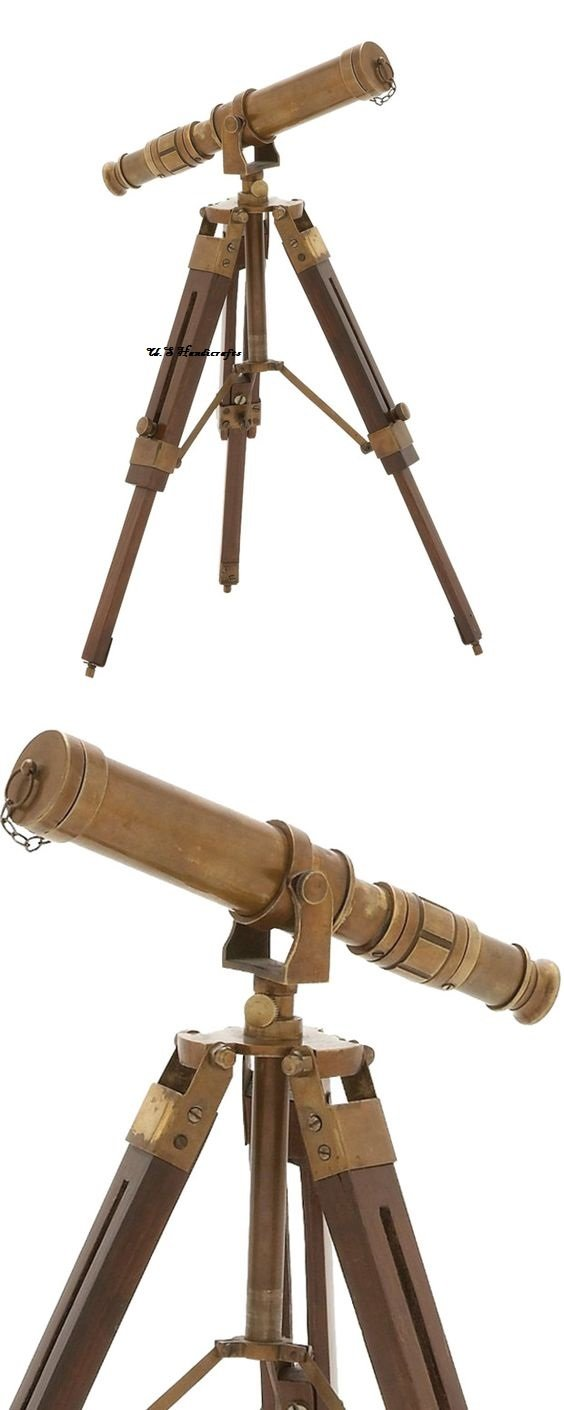 U.S Handicrafts Vintage Brass Antique Telescope on Tripod Stand/Brass Antique Desktop Telescope for Home Decor & Table accessory Nautical Spyglass Telescope for Navy and Outdoor Adventures. ... by U.S Handicrafts