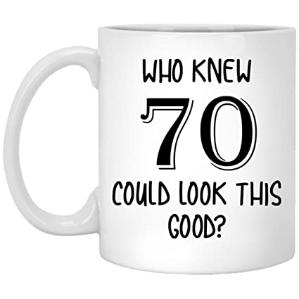 70th Birthday Gifts 70 And Fabulous Gift Mug