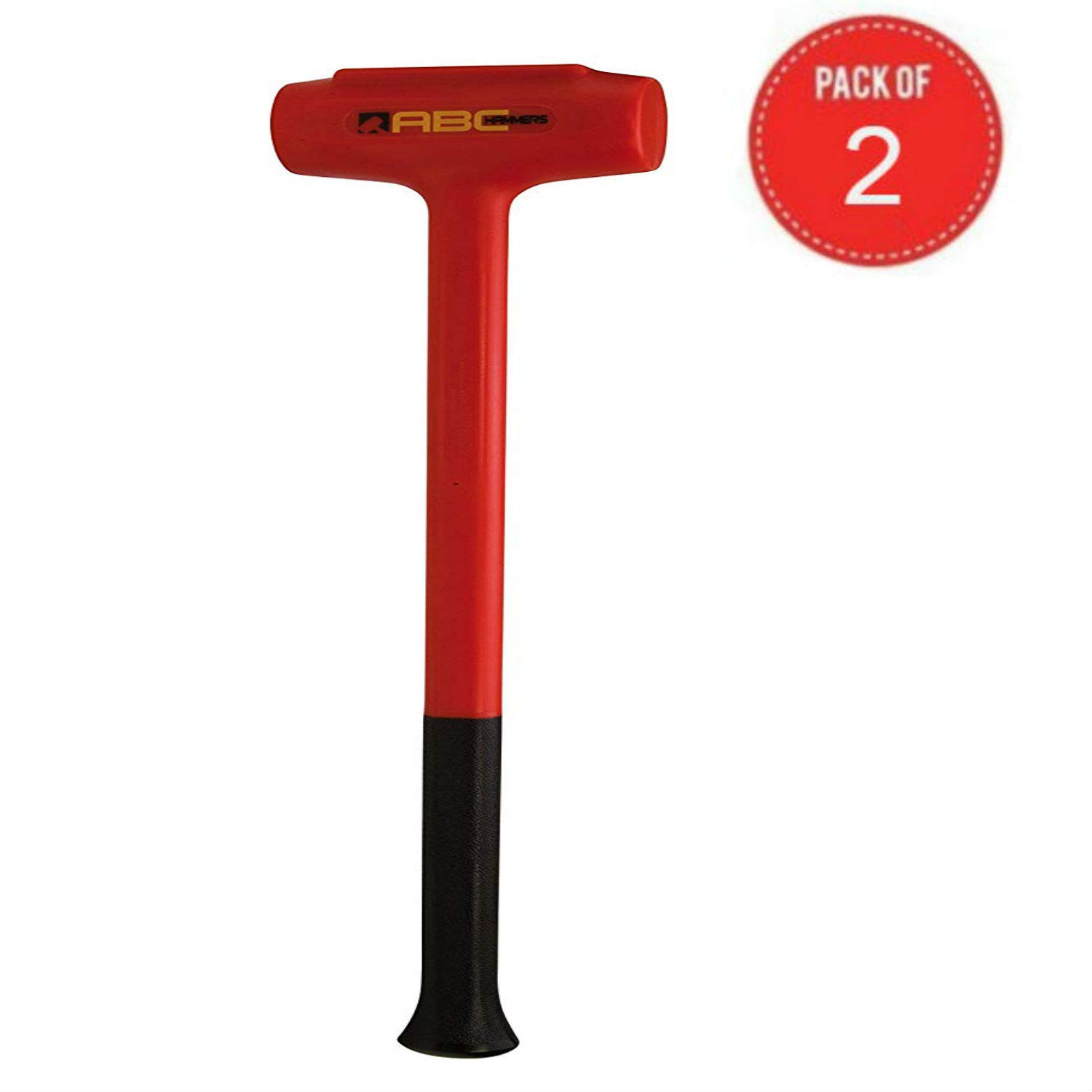 ABC Hammers Polyurethane Dead Blow Hammer (9-Pound Pack of 2)