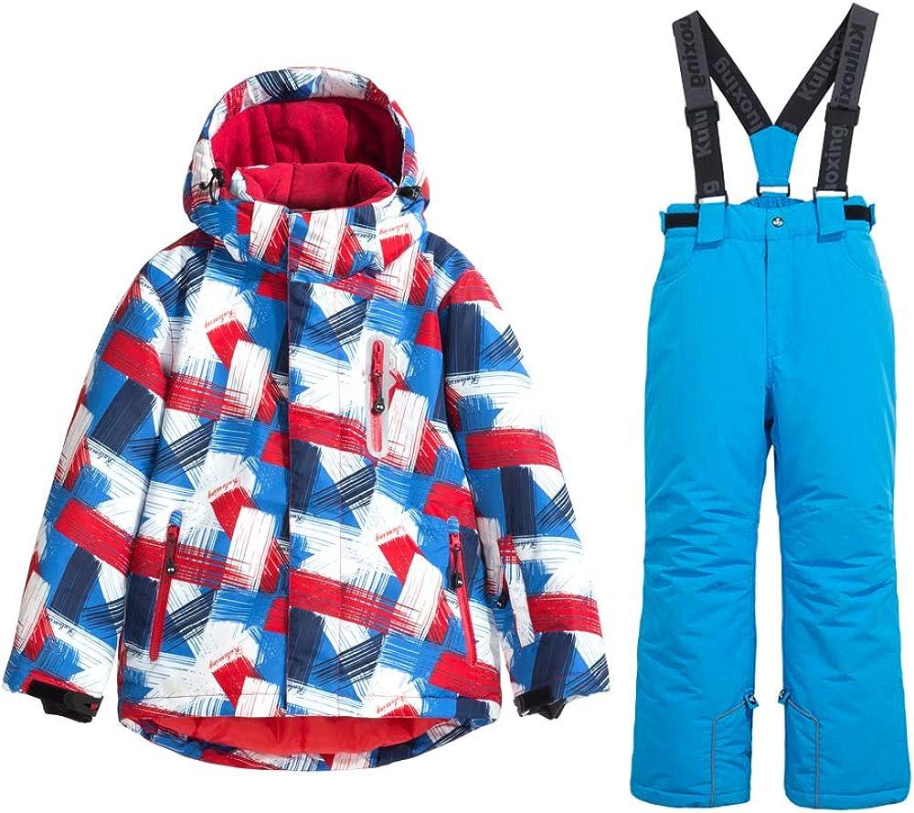 HOTIAN Boys Snow Jackets Windproof Winter Coat Waterproof Insulated Winter Ski Suits