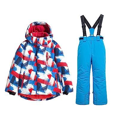 a9346bf11f6a Boys Snow Jacket Pants Ski Suit Windproof Waterproof Winter Coats (US 4 -  US 16)