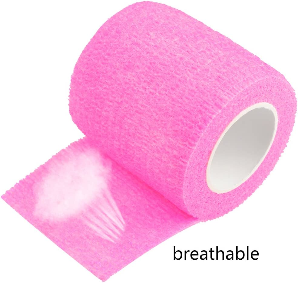 """2 Rolls of Pink Cohesive Gauze Tape Pro Quality 1.5/"""" x 30/'"""
