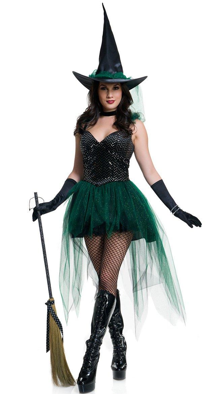 LLY Halloween Costume de sorcière Costumes de scène Cosplay Costume de fête, l
