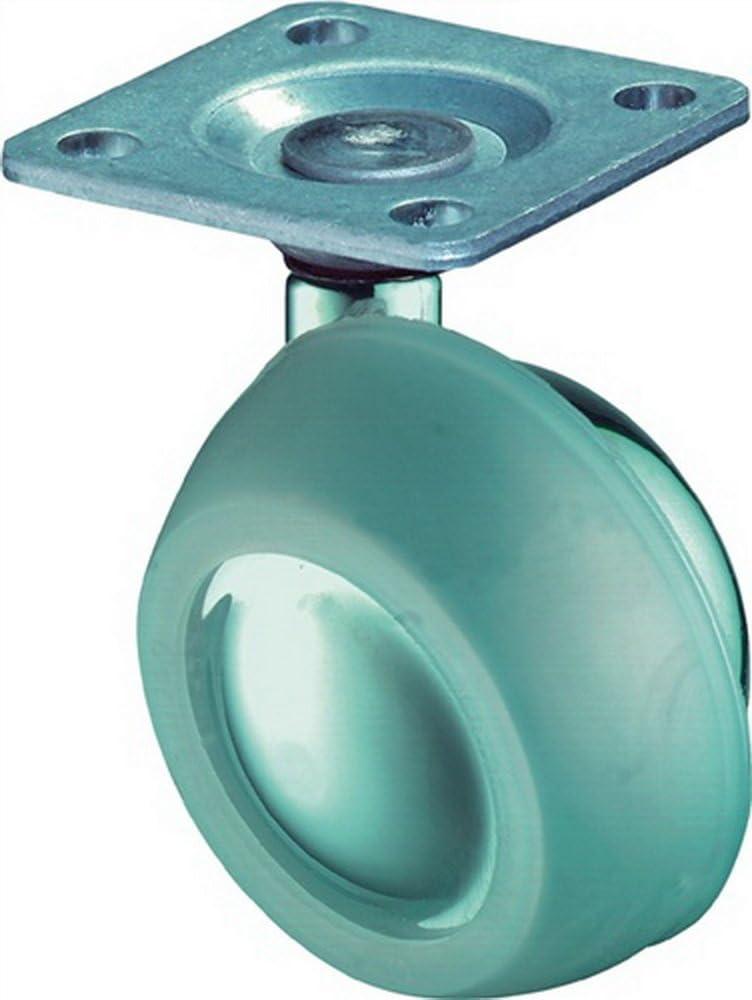 Kugelrolle Zinkdruckguss Anschraubplatte BS Rollen F71.063//G35.038 M/öbelrolle /Ø 63 mm Lenkrolle
