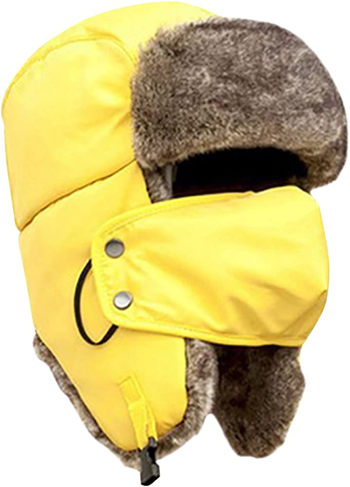 Bluelans/® Quality Unisex Winter Warm Outdoor Faux Fur Trapper Hat Ear Flap Bomber Hat with Mask Available in 12 Colours