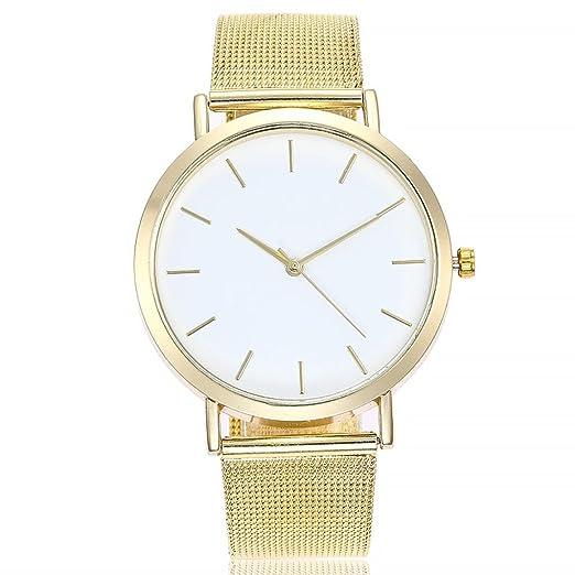 Logobeing Reloj de Pulsera Analógico Con Banda de Acero Inoxidable Moda Relojes Niña Reloj de Pulsera