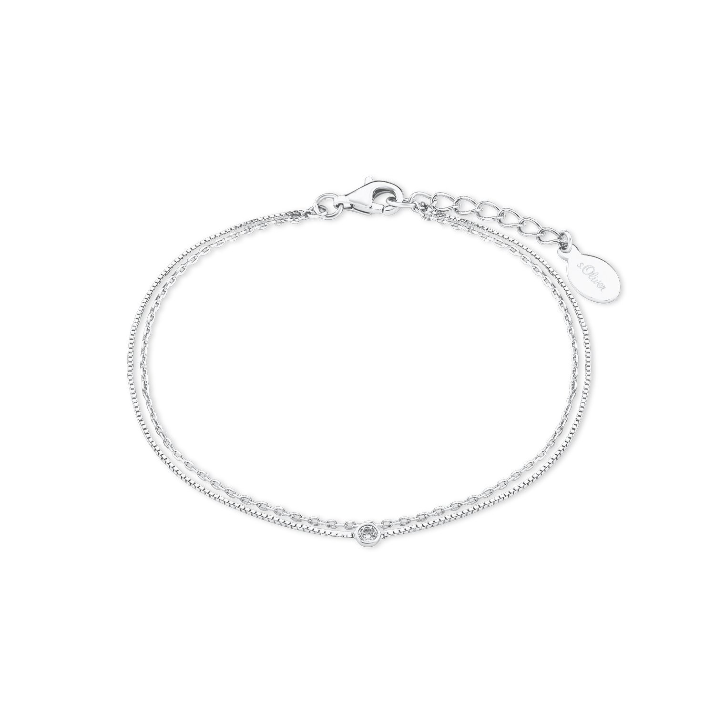 s.Oliver Kinder-Armband 925 Silber rhodiniert Zirkonia weiß Rundschliff 16 cm - 2018829
