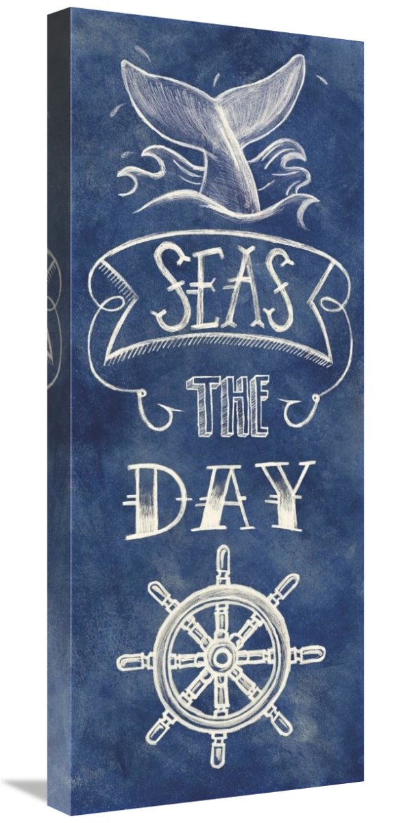 Global Gallery Mary Urban Seas The Day Giclee Stretched Canvas Artwork 12 x 30
