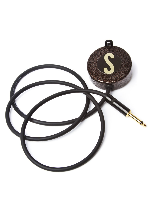 Solomon Mics Cajon Pickup Microphone - Pewter PUQPWTR by Solomon