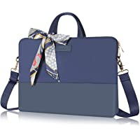 Kamlui Laptop Bag 15.6 Inch - for Women Men Carrying Computer Case Shoulder Messenger MacBook Pro Air(Blue)