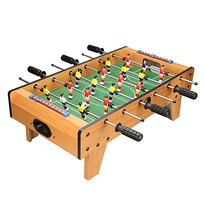 Virhuck Mini Table Top Foosball 27 Inches Soccer Game Table Six aixs Indoor & Outdoor Soccer Game Kids Toy