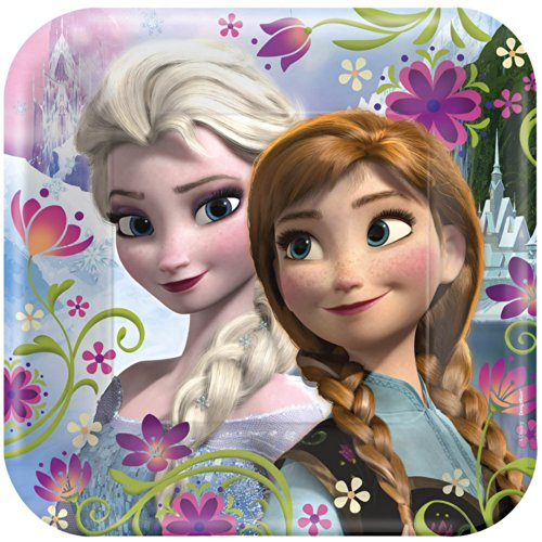 "Disney's Frozen Party 9"" Square Lunch/Dinner Plates"