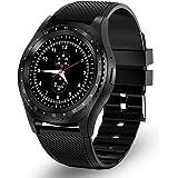 Smartwatch Bluetooth Fitness Tracker con scheda SIM e slot per schede TF Monitoraggio del sonno pedometro Orologio Activity impermeabile Compatibile con Android