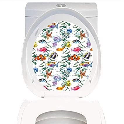 Groovy Amazon Com Qianhe Home Toilet Seat Wall Stickers Paper Alphanode Cool Chair Designs And Ideas Alphanodeonline