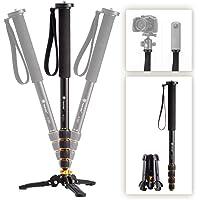 TARION Profesjonalna kamera DSLR wideo monopod Unipod stop aluminium 165 cm / 65 cali z 3-nogami podstawa statywu 3/8…