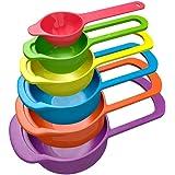 Okayji Plastic Measuring Cup Set, 6-Pieces, Multicolour