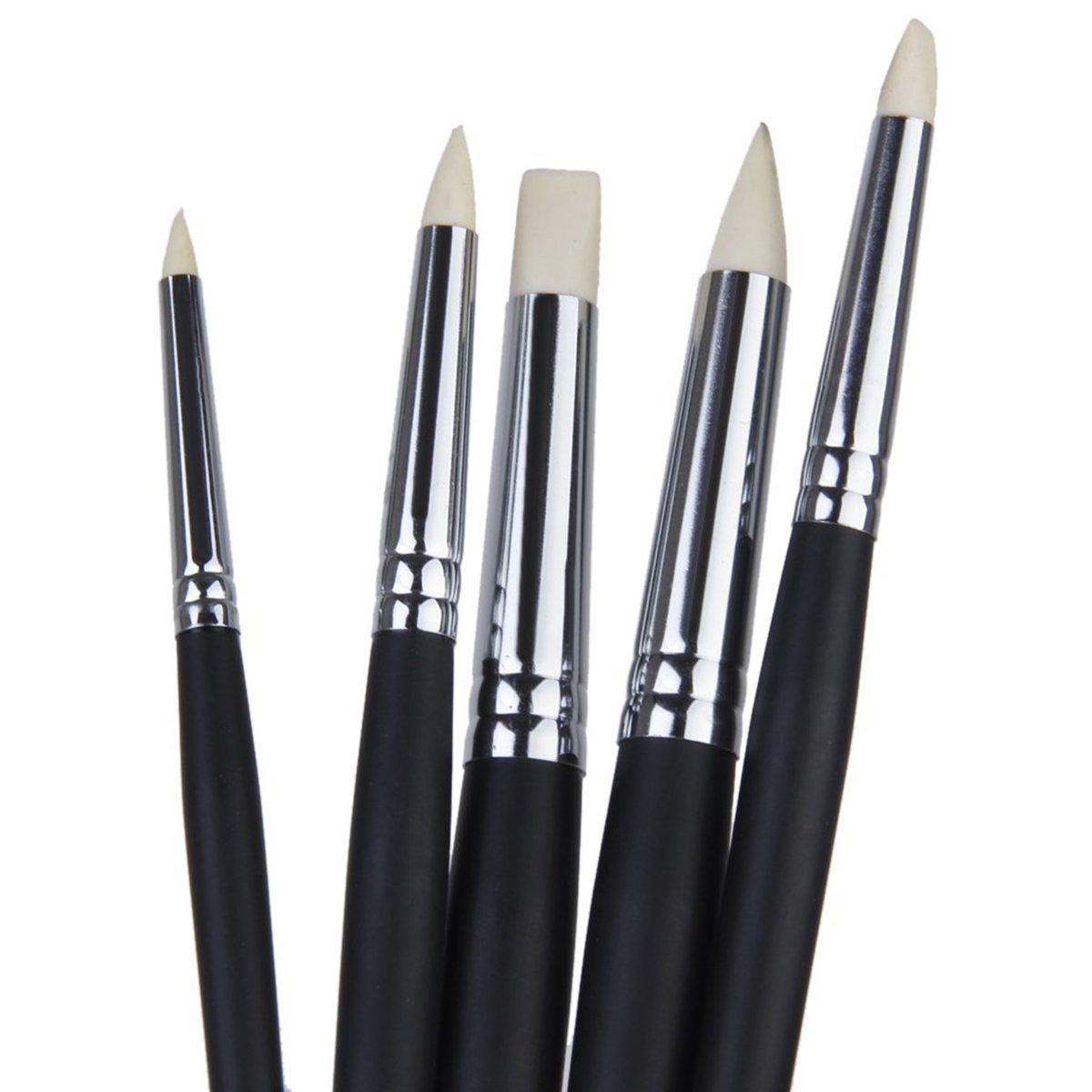 ULTNICE Doux Argile Couleur Shaper Pinceaux Outils de Peinture de Sculpture Noir 9/pi/èces