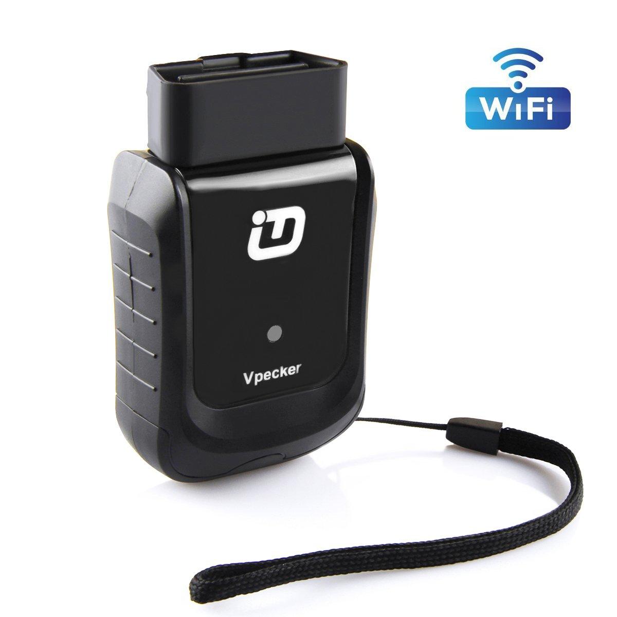 Vpecker WIFI Easydiag V10.3 Car Diagnostic Tool Full System OBDII Scanner OBD2 Automotive Code Reader for American, European, Asian Cars