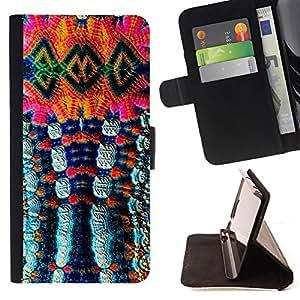 - Colorful Abstract Photo - Estilo PU billetera de cuero del soporte del tir???¡¯???3n [solapa de cierre] Cubierta- For Sony Xperia Z1 L39 ( Devil Case )