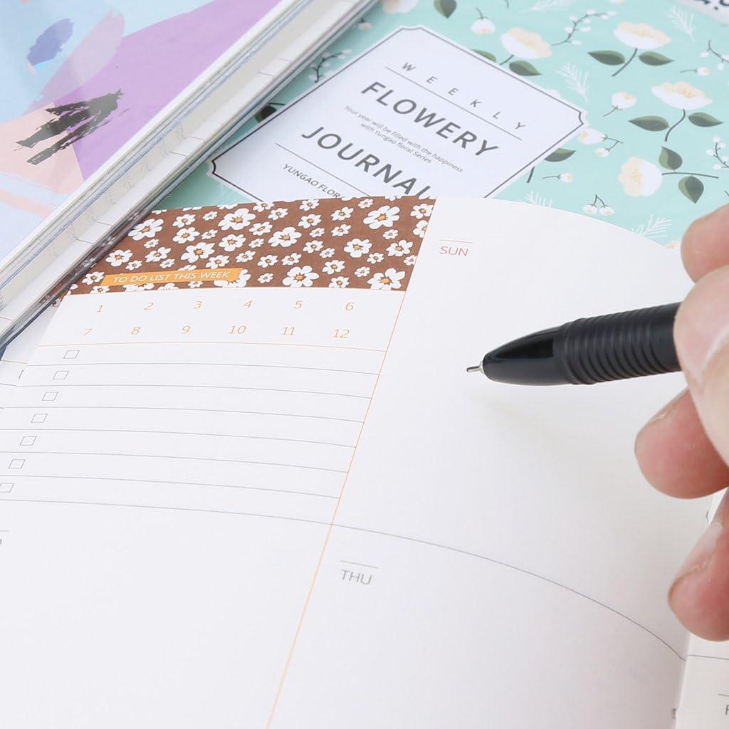 qingqingR A6 Cute Mini Plan Main Compte Bloc-Notes Agenda Ordre du Jour Mensuel Hebdomadaire Plan Calendrier Cahier De Fournitures Scolaires Cadeaux E # 1Pc