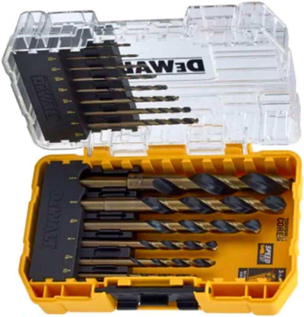 black//yellow DeWalt DT70727-QZ Metal Drill Bit Set 14 Pieces HSS-G