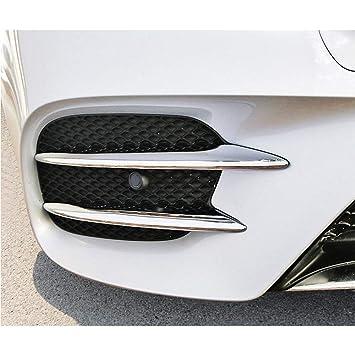 ABS plástico cromado Frente lámpara de niebla Tira cubierta de la cubierta Accesorios automáticos para Clase