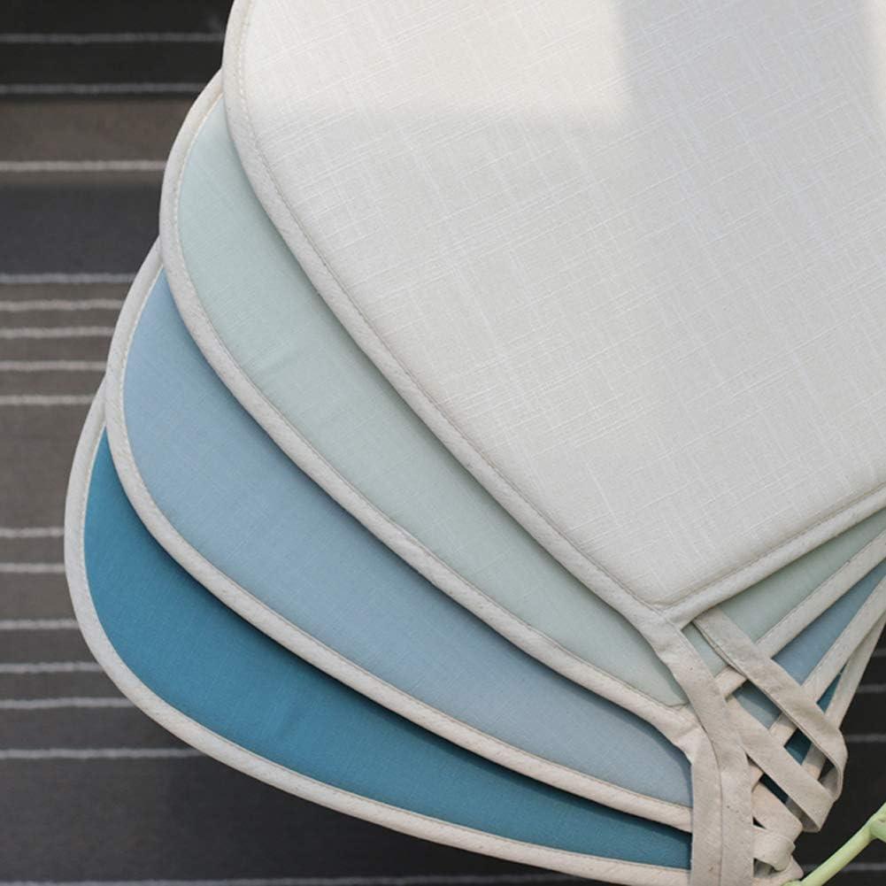 ZAIPP Non-Slip Cucine Cuscini Sedie,Lino E Cotone Rimovibile Sede Cuscino della Sedia con Legami Ferro per Giardino Conpertevole Home Ufficio-j Grande A