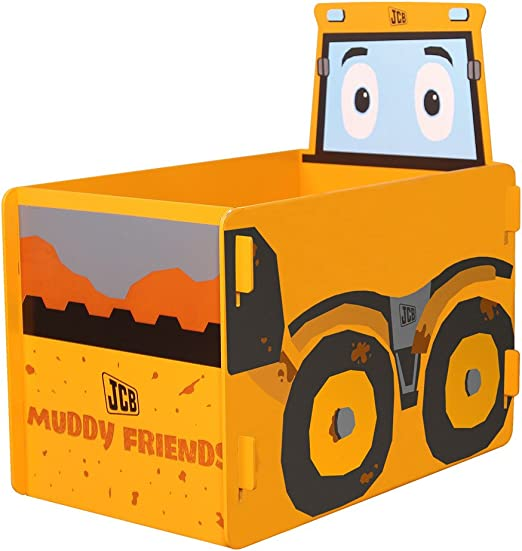 Kidsaw JCB Barro Amigos Caja de Juguetes, Madera, Amarillo, 39 x ...