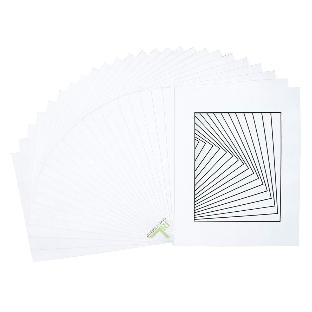 Golden State Art, Acid free, Pack of 10 11x14 White Mats Mattes with Black Core Bevel Cut for 8x10 Photo + Backing + Bag