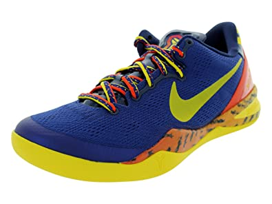 4e2f2a43585d Nike Mens Kobe 8 System Deep Royal Midnight Navy-Team Orange 555035-402