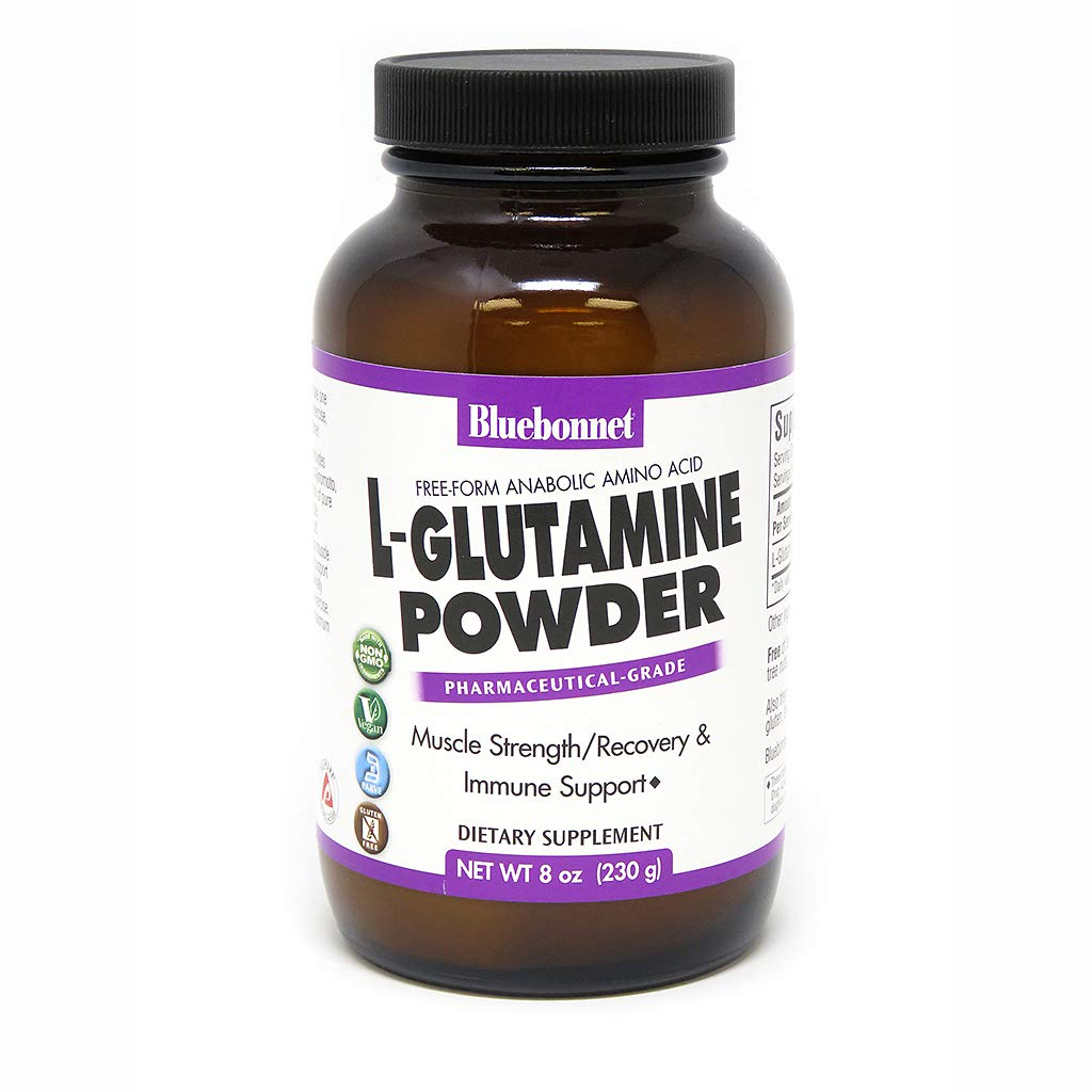 Bluebonnet Nutrition L-glutamine Powder, 8 Ounce by BlueBonnet
