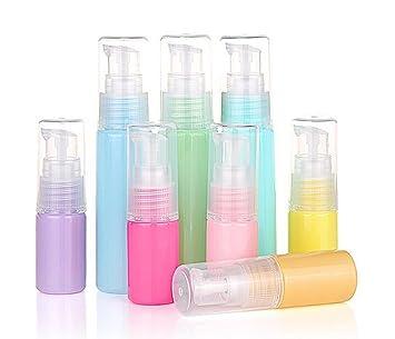 df1a09408d1d 6PCS 10ml Macaron Color Lotion Bottle Empty Portable Refillable Plastic  Pump Cream Lotion Bottle...