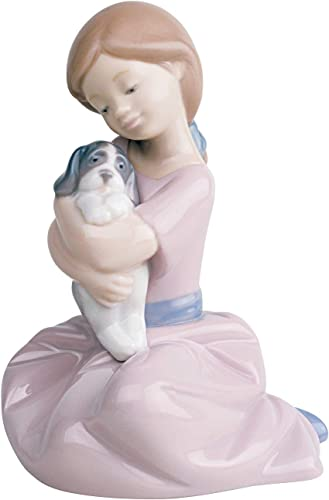 Nao by Lladro Collectible Porcelain Figurine MY PUPPY LOVE – 5 1 2 tall – girl with puppy dog