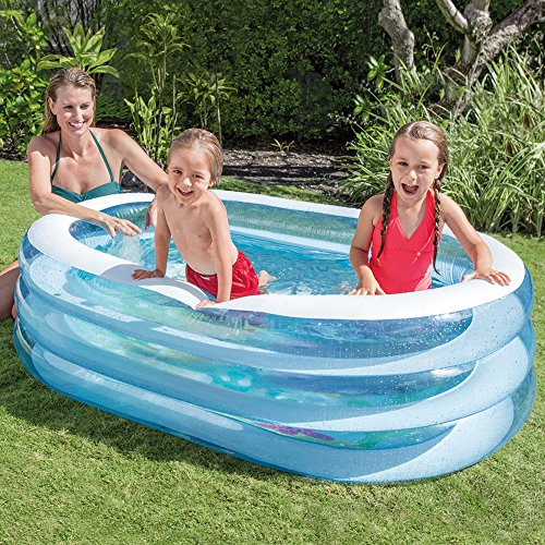 Intex Oval Whale Fun Pool, Blue