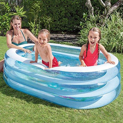 Intex Oval Whale Fun Pool, Blue