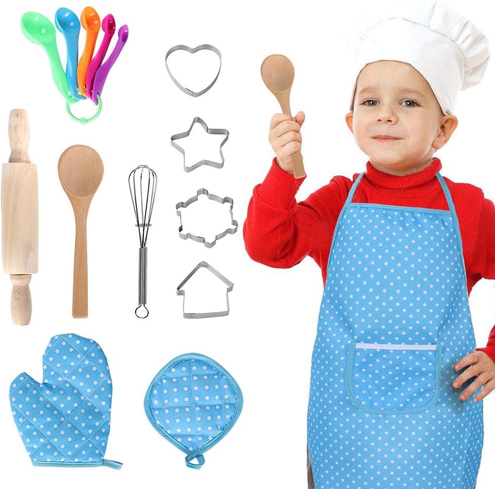 Bascolor Chef Disfraz para niños Chef Accesorios Cocinero Disfraz ...