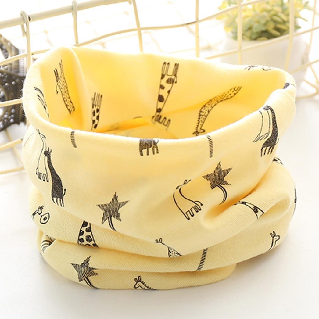 Colorful TM New Autumn Winter Boys Girls Baby Cute Giraffe Scarf Cotton O Ring Neck Scarves B