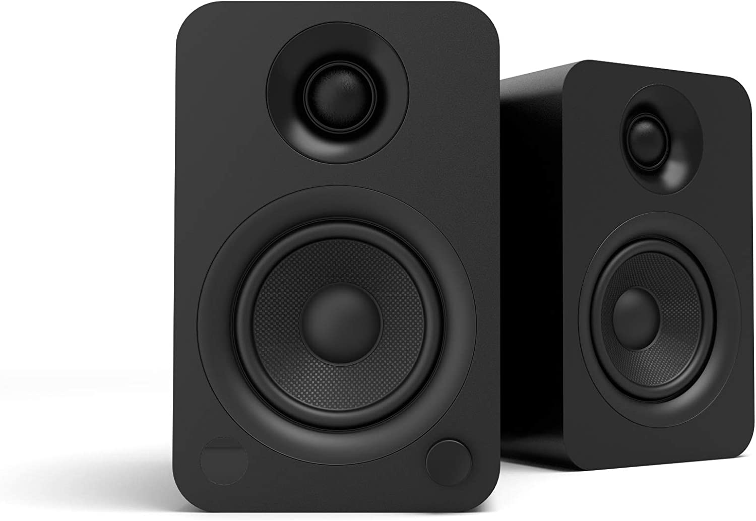 Kanto YU Powered Bookshelf Speakers with Bluetooth 4.2 and RCA Input | Features Signal Detection and Auto Stand-by | Matte Black