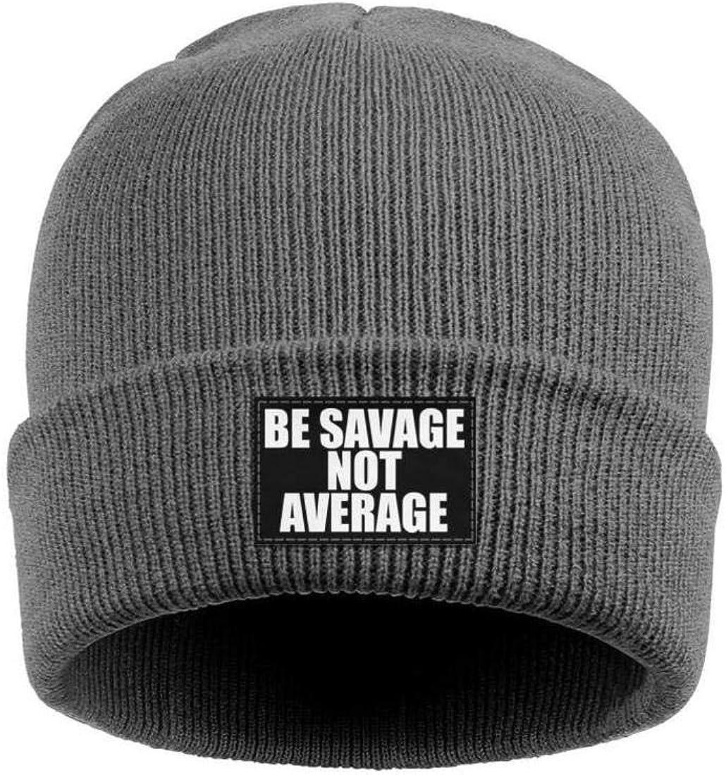 ZYNEW BE Savage NOT Average Mens Womens Beanie Hat Warm Woolen Sport Skull Cap One Size