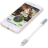 Tranesca 3.5mm Audio Jack Headphone Adapter Compatible with iPhone 7/7s/iPhone 8/8s/iPhone X/XS/XR (Silver)