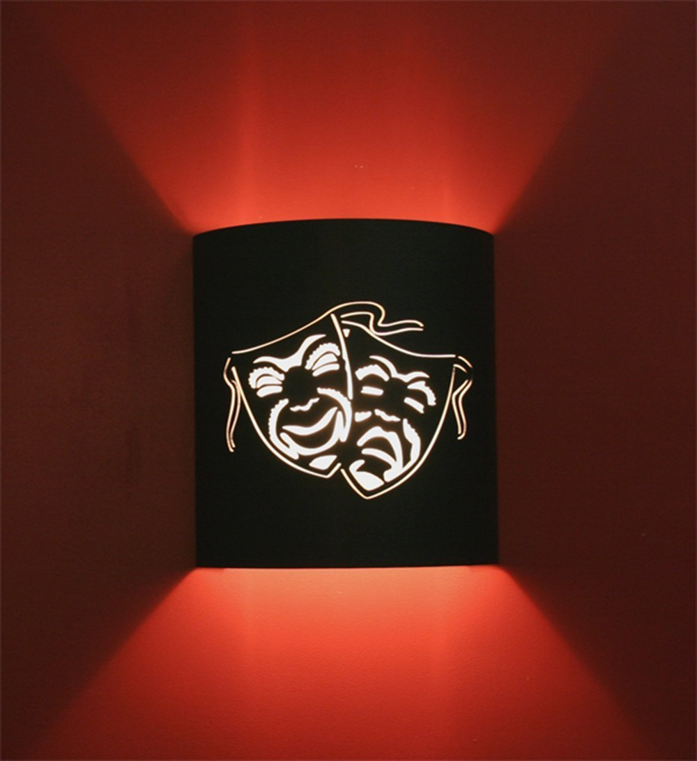 Comedy and Tragedy - Black Home Movie Theater Sconces