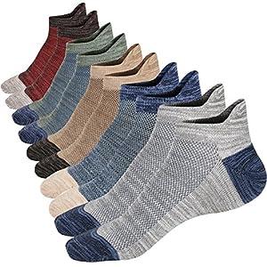 M&Z Mens Low Cut Ankle Non-slid Socks Cotton Mesh Top Fresh Ventilation Socks 3 Sizes S M L