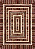 "Cheap Well Woven Boxes Geometric Modern Area Rug Red Multicolor 8×10 8×11 (7'10"" x 9'10"")"
