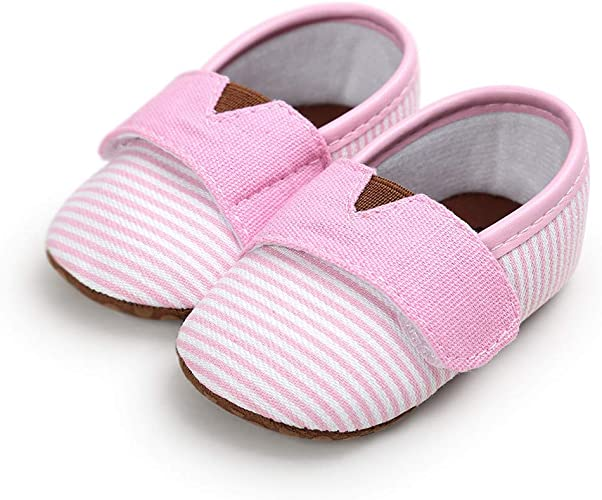 Baby Girls Boys Canvas Shoes, Soft Anti