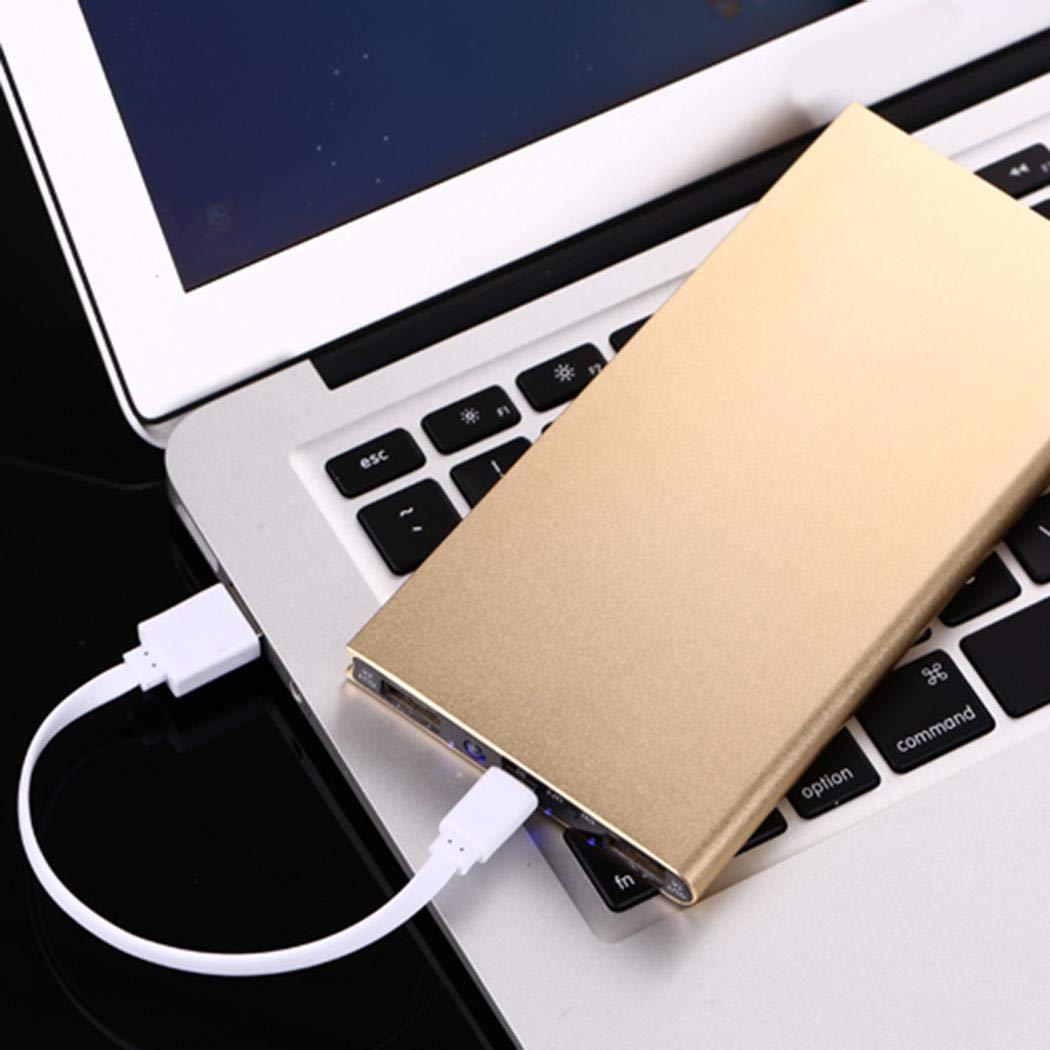 LIOPIO Banco Externo Ultrafino del Poder del Cargador de batería 20000mAh para el teléfono Celular Cargadores portátiles