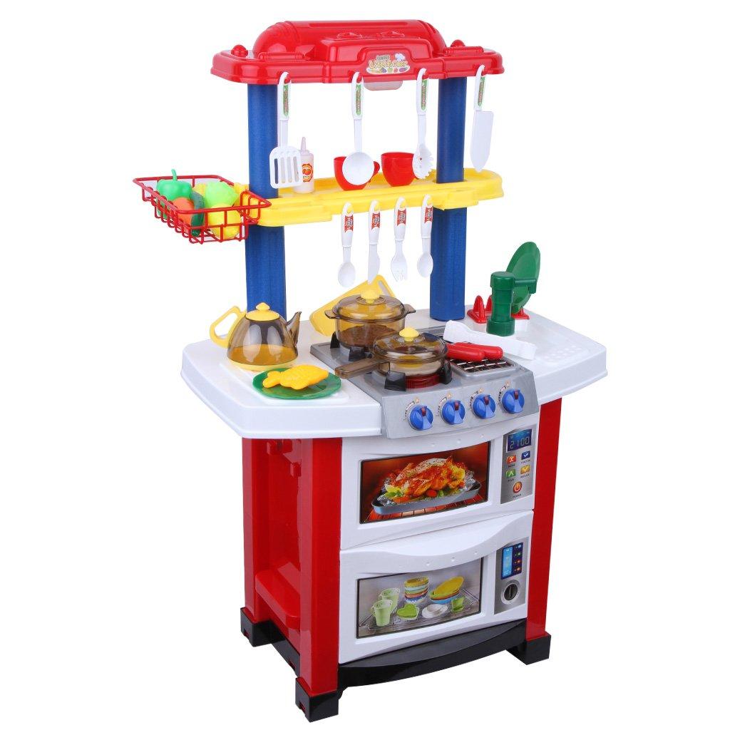 Kitchen Set Node Attributes: Excelvan Childrens Electronic Kitchen Role Kids Pretend