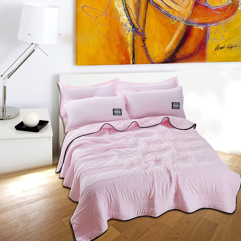 Reversible Microfiber Comforter 70100 Wifehelper Washable Summer Air Conditioning Comfoter Quilt Blanket for Children Adults