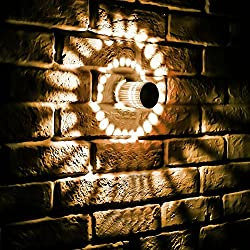 KingSo RGB Spiral Led Wall Lamp, 3W Dimmable Spiral Lamp, Remote Control Surface Install Mini Ceiling Light, Spiral Hole Wall Lamp for Game Room Kids Party Bars Hotel Cafe, Colorful 16 Million Colors